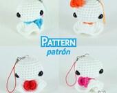 Teru teru bozu, amigurumi, patrón amigurumi, patrón crochet, llavero kawaii, llavero amigurumi, amigurumi pdf, patrón pdf, muñeco en crochet