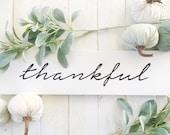 Thankful | Sign | Wood | ...