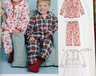 Kids pajamas and nightgown New Look sewing pattern