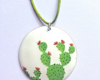 Cactus in flower pendant