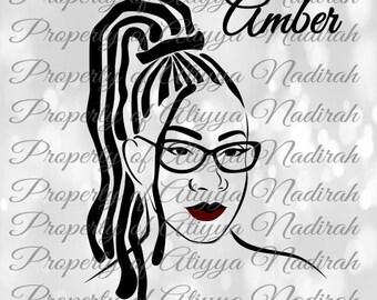 Amber Black Girl SVG