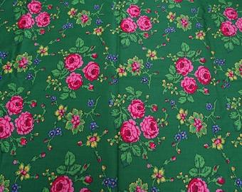 Polish satin fabric material for a folkloric wedding skirt in Romanian style Romanian folk  floral fabric skirt floral fabric