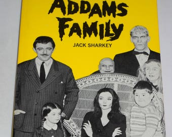 1965 The Addams Family #1 TV tie-in series vintage paperback book by Jack Sharkey - Chas Addams