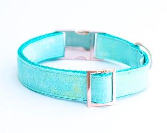 "The ""Aqua"" collar (with Rose gold hardware)"