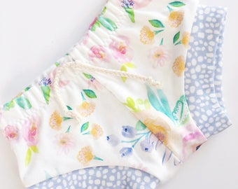 Summer Floral Shorts / Girls Shorts / Toddler / Baby / Macie and me