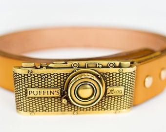 35mm limited series belt CAMERA bright mustard