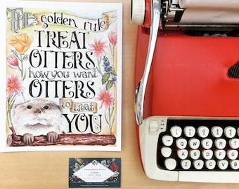 Golden Rule: Otter Inspriational Poster
