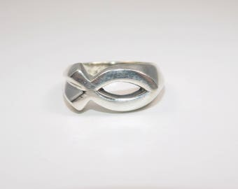 Sterling silver size 7 Ichthus ring
