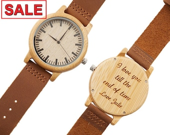 Father's Day Gift, Valentine's Day Gift, Christmas Gift, Watch For Men, Husband Gift, Engraved Watch, Gift for Dad