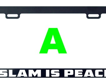 Islam is peace license plate frame tag holder decal sticker