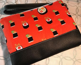 Sushi Clutch with Faux Leather