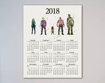 Calendar 2018 Guardians of the Galaxy