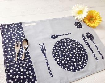 Montessori place mat with padded bib