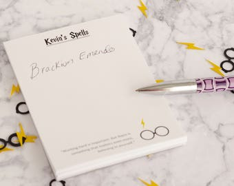 Harry Potter Glasses and Scar Inspired Customized Note Pad with 6 Quotes as seen on buzzfeed