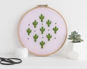 Pink Cactus Diamond Pattern
