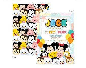 Tsum Tsum Invitation - Birthday / Bridal Baby Shower Party Printable