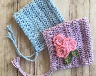 Newborn Pixie Hat | Baby bonnet, crochet pixie hat, crochet pixie bonnet, knit pixie hat, knit pixie bonnet, newborn photo hats, newborn hat