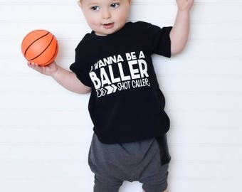 25% Off Christmas in July Trendy boy clothes, hipster baby clothes, wanna be a baller shot caller, boys shirts, cute boys clothes, boys clot