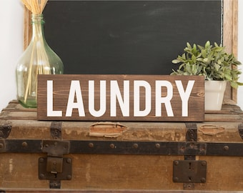 Laundry sign Rustic laundry sign Laundry room sign Laundry room decor Wooden laundry sign Laundry room art Laundry farmhouse Laundry room