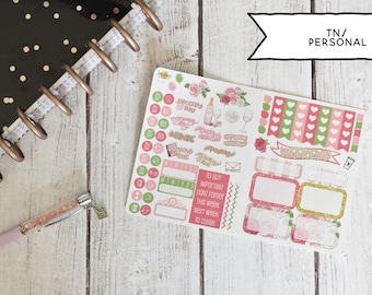 Rosé TN/Personal Planner Stickers Kit - Made for personal planners & travelers notebooks