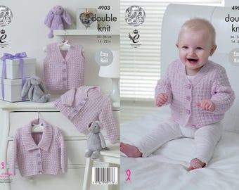 Brand New! Waistcoat & Cardigans Knitting Pattern