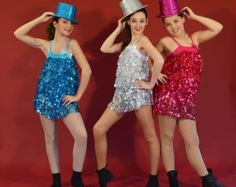 sequins and charleston children dance costume