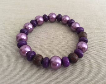 Royal - Aromatherapy Essential Oil Diffuser Bracelet, Wood and Crystal
