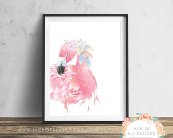 Flamingo - Wall Art Print