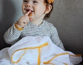 Daffodil Lace and Muslin Swaddle/ Heirloom swaddle /Swaddle Blanket / Boho Blanket / Newborn Blanket / Newborn Baby Blanket/Muslin Swaddle