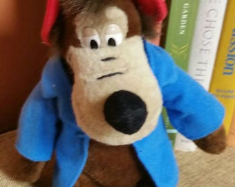 Disney's Brer Bear 9 Inch Plush Beanie/DisneyWorld Souvenir/Disney's Song of the South Character/Collectible Plush Toy/Uncle Remus Story