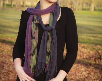 """Small dull knit silk hand dyed """"as my silk mesh"""""""