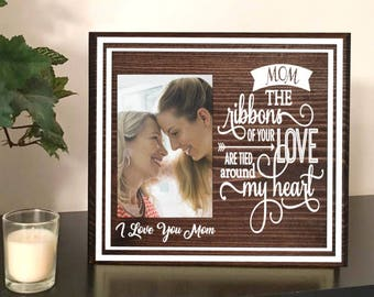 Mother picture frame - personalized picture frames for mom - mom photo frame - picture frame for mom - mom frame - mothers day frame