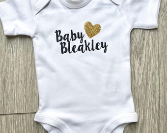 Personalised Surname Baby Grow