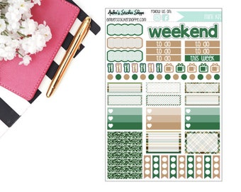 Green & Brown Page Mini Weekly Kit