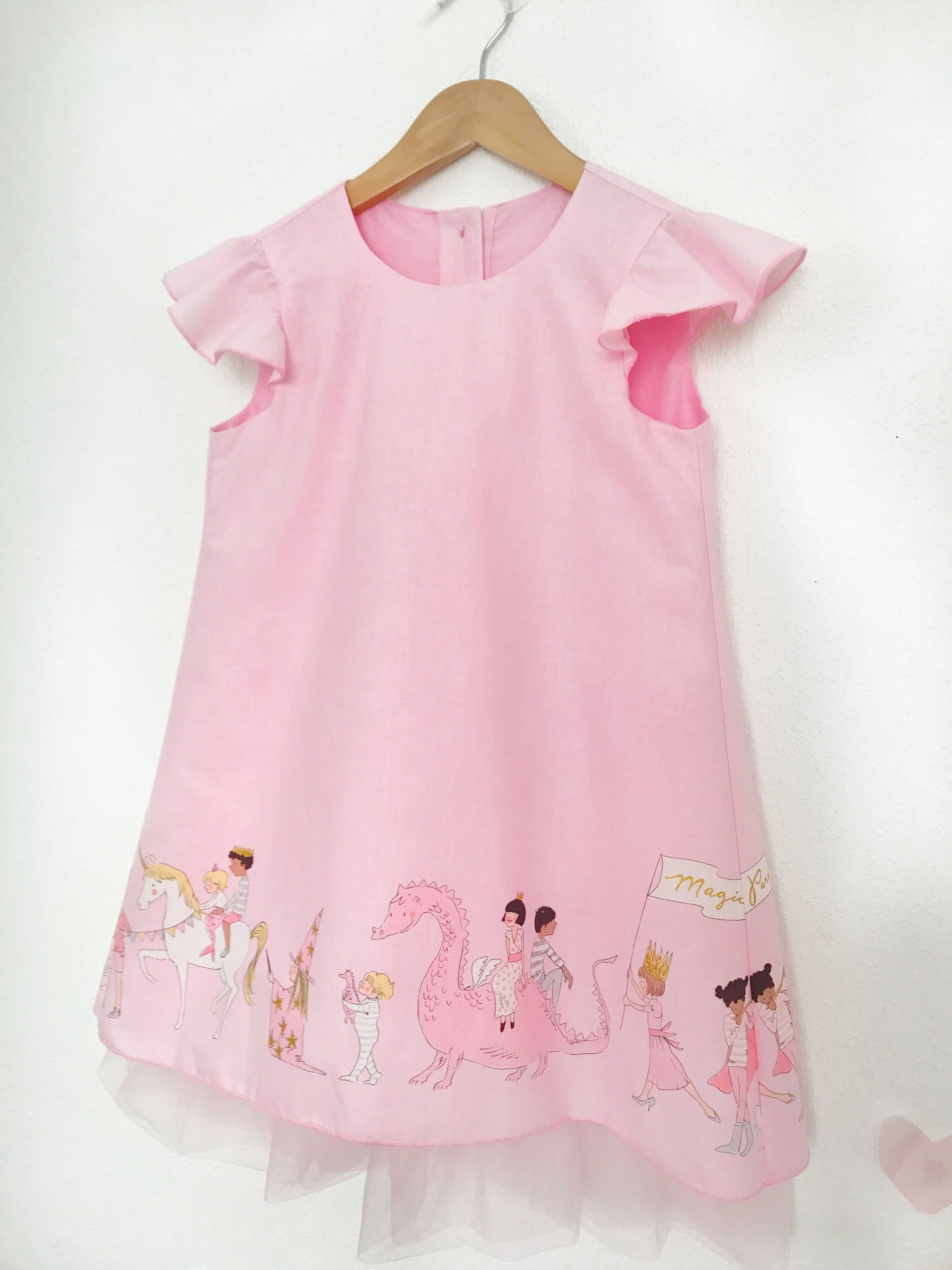Baby cotton dress Magic tulle dress princess dress candy