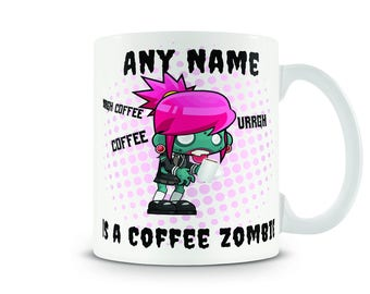 Coffee Zombie personalised mug