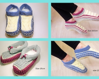 Women's knitted slippers House shoes Warm Slippers Soft slippers Everyday using slippers