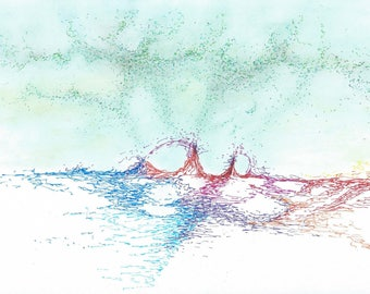 Landscape drawing imaginary pencils