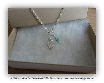 Little Feather & Swarovski Necklace
