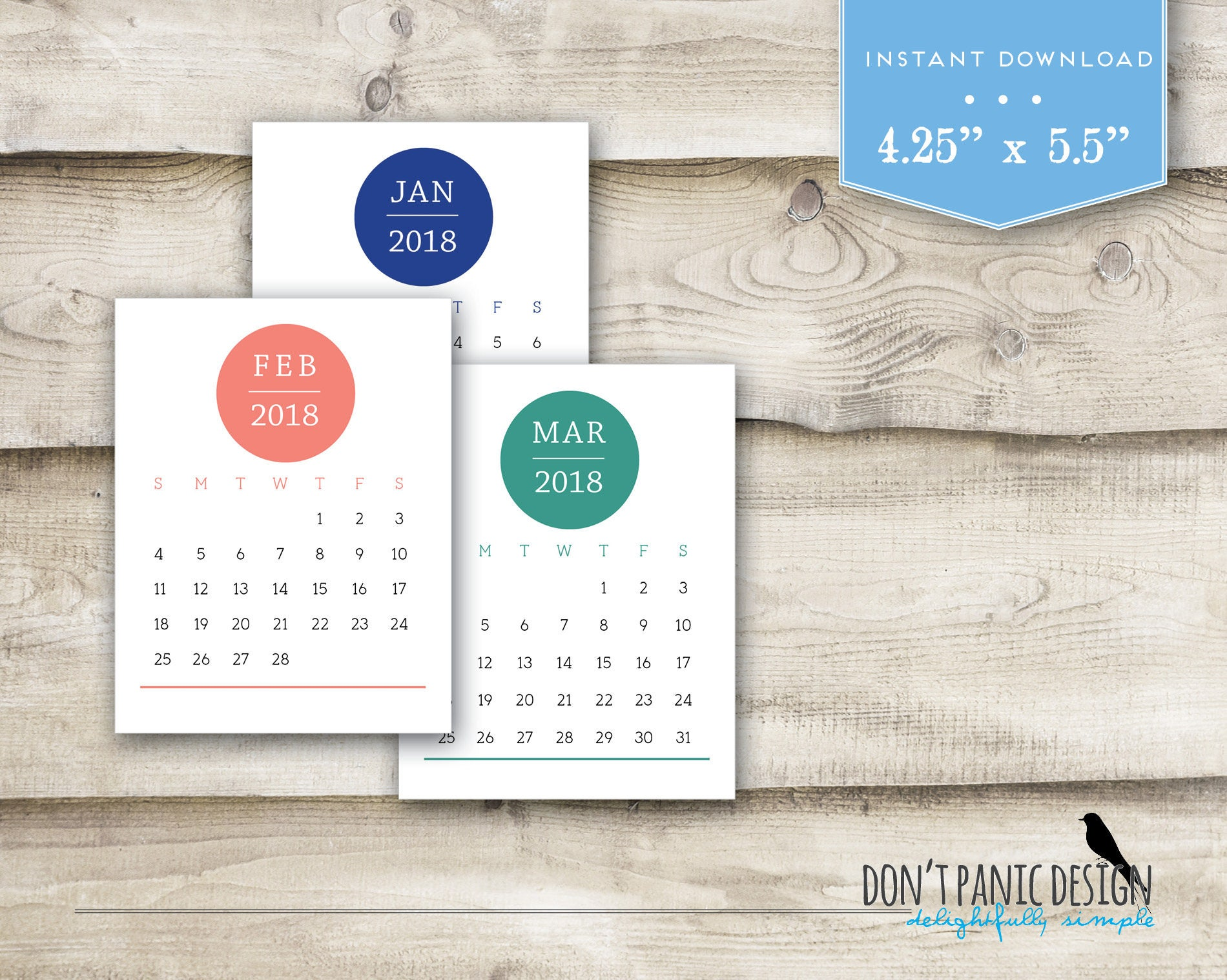 Blank Calendar Blocks : Printable desk calendar month color block circle
