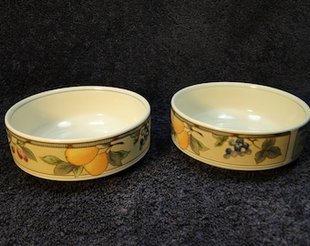 "TWO Mikasa Garden Harvest Berry Bowls Fruit Dessert CAC29 5"" Set of 2 EXCELLENT!"