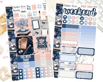 Girl Boss / Back To School Reading Bookworm Book Lover / Personal Weekly Sticker Kit / Erin Condren MAMBI Happy Planner Stickers [***]