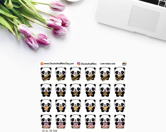 Amanda The Panda ~ EAT All The FOOD ~ Planner Stickers CAM PaNDA 028