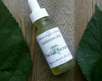 Organic Acne Serum, Natural Treatment for Blemished Skin, Herbal Remedy for Breakouts