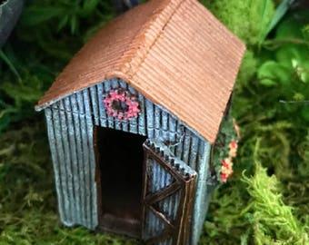 Miniature Teeny Flower Shed