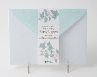 Midori envelopes for green ivy Letter Paper pads