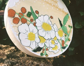 Round Floral Painting