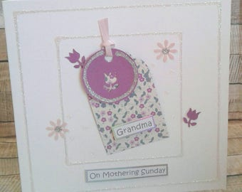 MOTHER'S DAY CARD/ mothers day cards/ Grandma/ Handmade Greetings Card/ Mothering Sunday/ Flowers