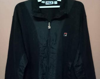 VINTAGE FILA Sport Jacket big logo Original hip hop Rap Men's Rare