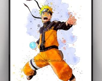Naruto art, naruto poster, naruto uzumaki art, naruto watercolor, anime art, manga art, manga poster, manga watercolor, naruto uzumaki, 9